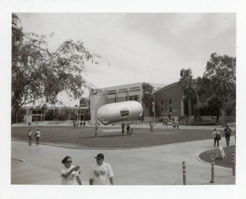 Chipotle Burrito Blimp at the University of Arizona, Polaroid Type 667