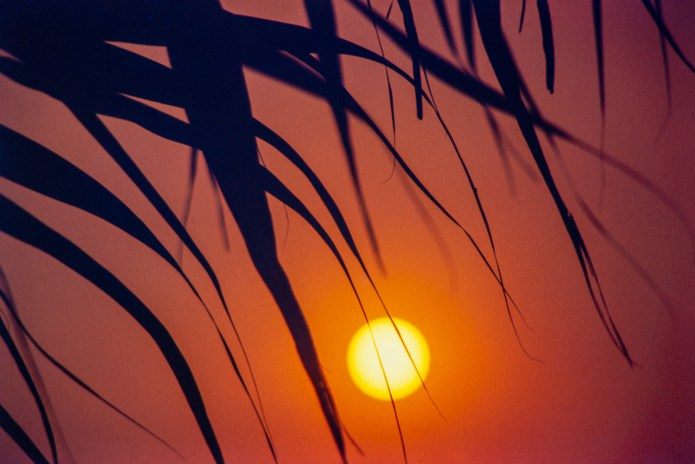My first memorable sunset photo 1973 - PetriFT - Kodachrome 64