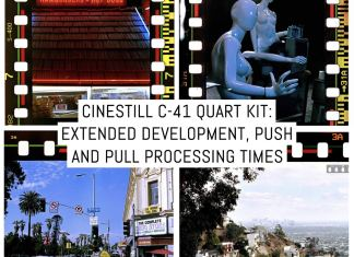 Cinestill C-41 Quart Kit: extended development, push and pull processing times