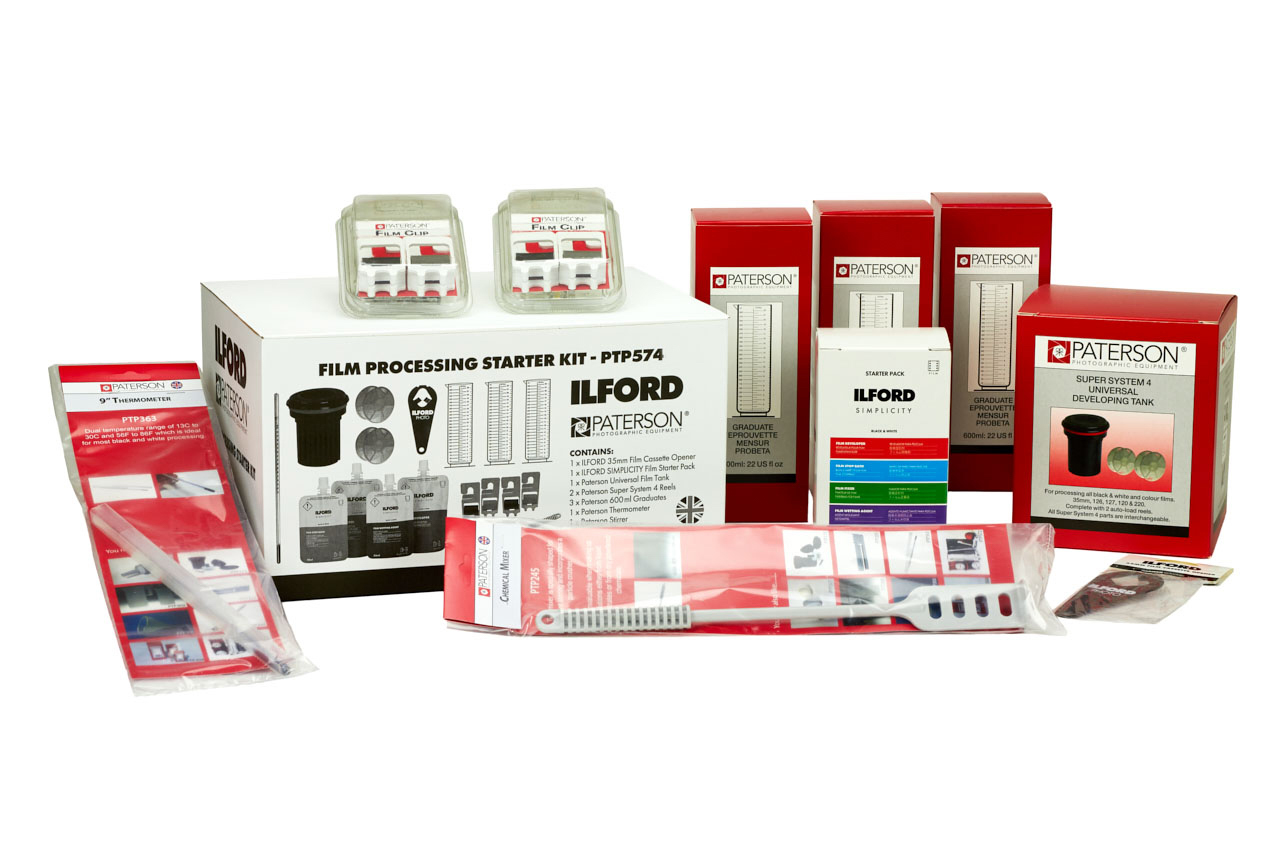 ILFORD + Paterson Film Processing Starter Kit