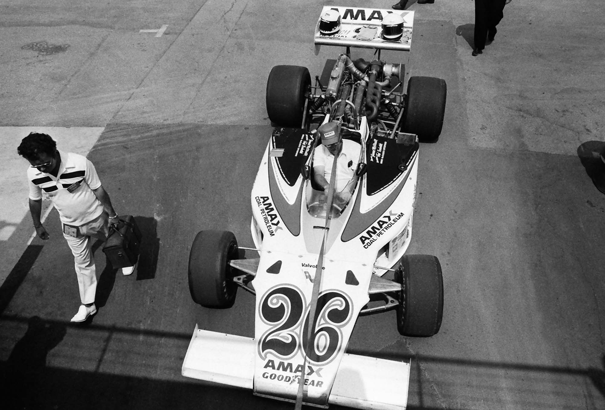 Ontario Motor Speedway 1977 James McElreath Car 26 from above - Dan Carroll
