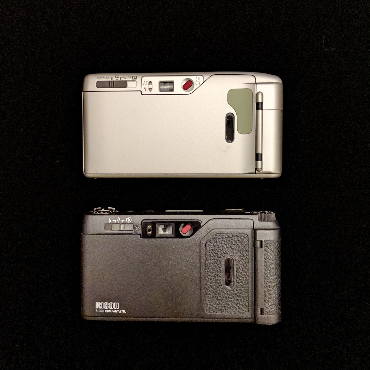 Ricoh GR1s and R1s - rear