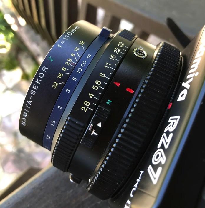 Mamiya RZ67 - Set the aperture