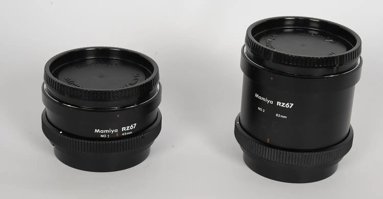 Mamiya RZ67 Extension tubes No.1 and No.2