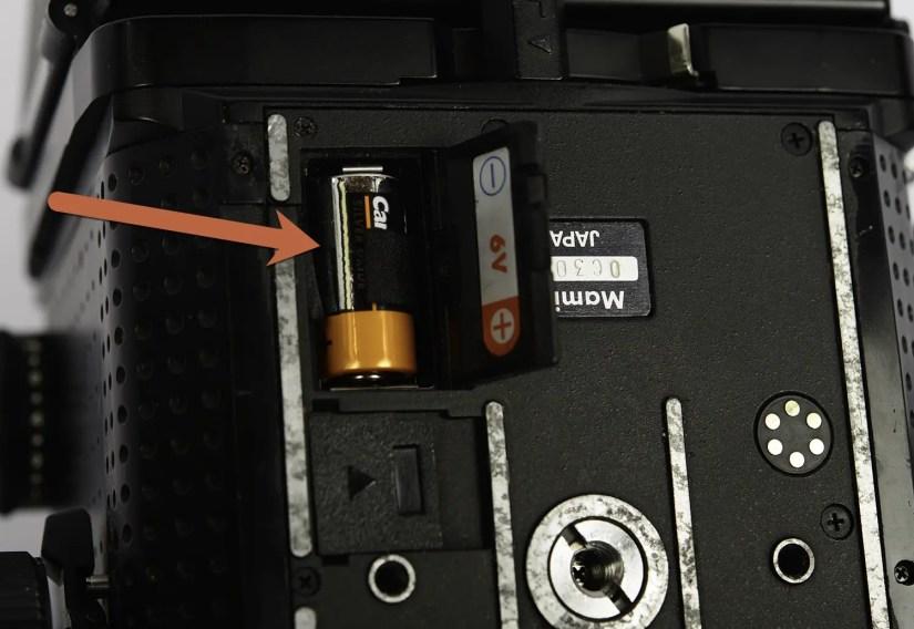 Mamiya RZ67 internal battery