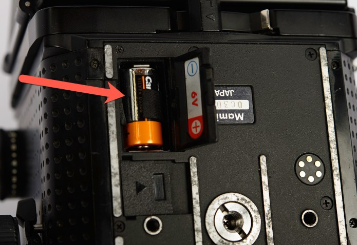 Mamiya RZ67 internal battery