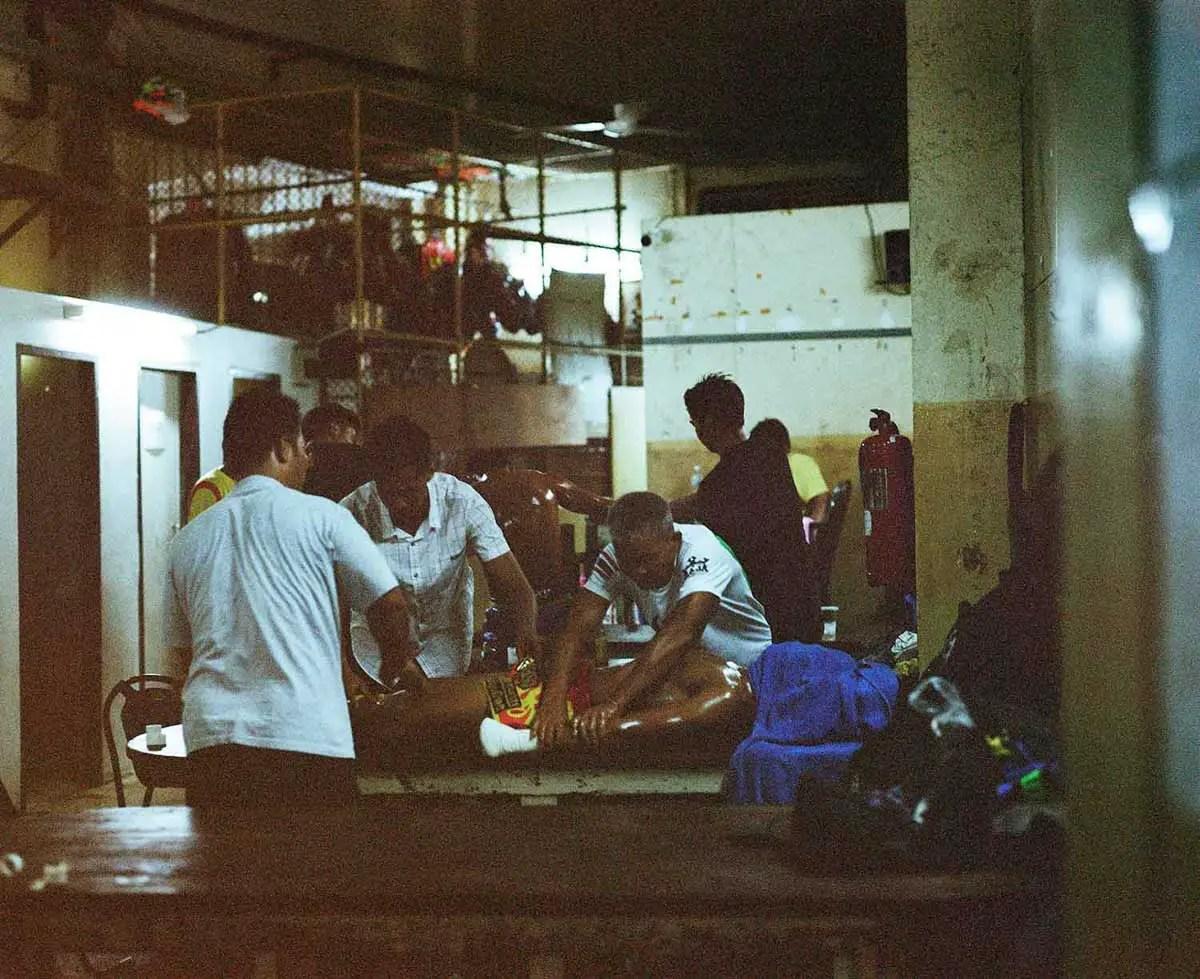 Rajadamnern - Muaythai boxing. Pentax 6x7 and Fujifilm Pro 400H - Jeff Dojillo