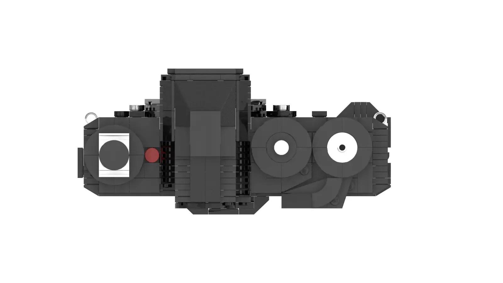 LEGO Nikon F3: Top plate (Credit: Ethan Brossard)