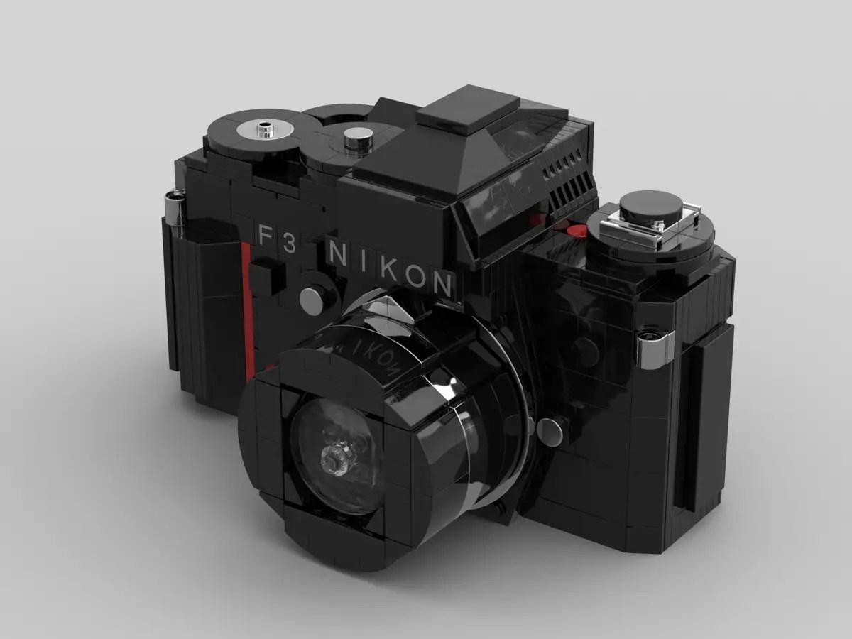 LEGO Nikon F3: Lens mounted (Credit: Ethan Brossard)