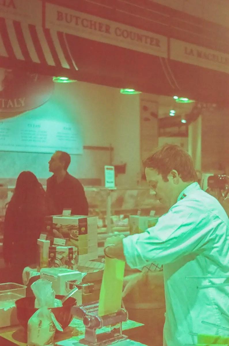 Pasta Chef - 5 Frames With... Revolog 600nm (35mm / EI 200 / Voigtländer Vito CL) - by Wendy Chapman