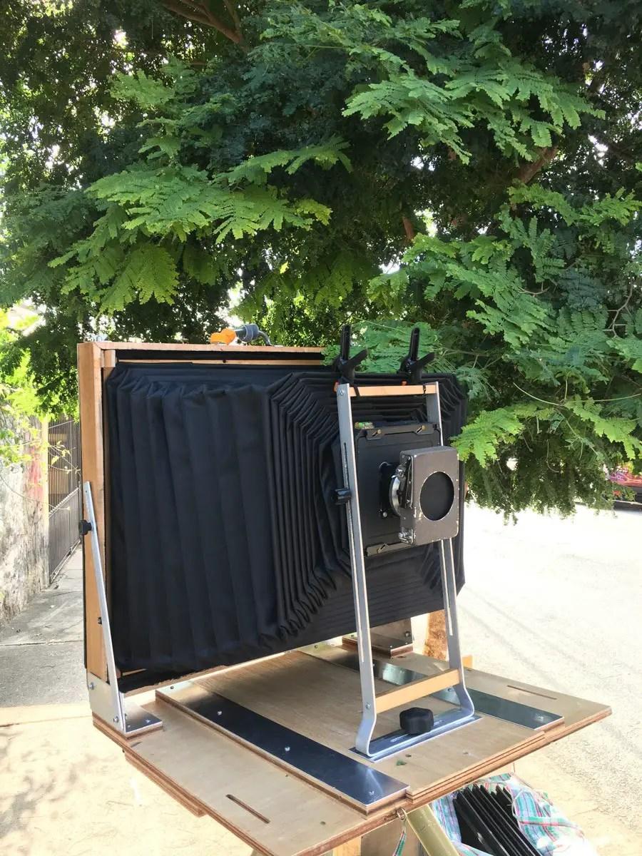 Camera setup to photograph Tatuapé in São Paulo.