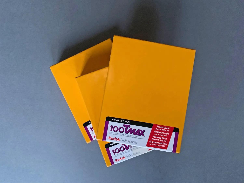 4x5 format Kodak T-MAX 100