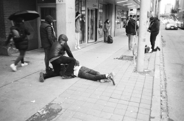Drug cops making arrests - Fomapan 200 Creative and Olympus XA