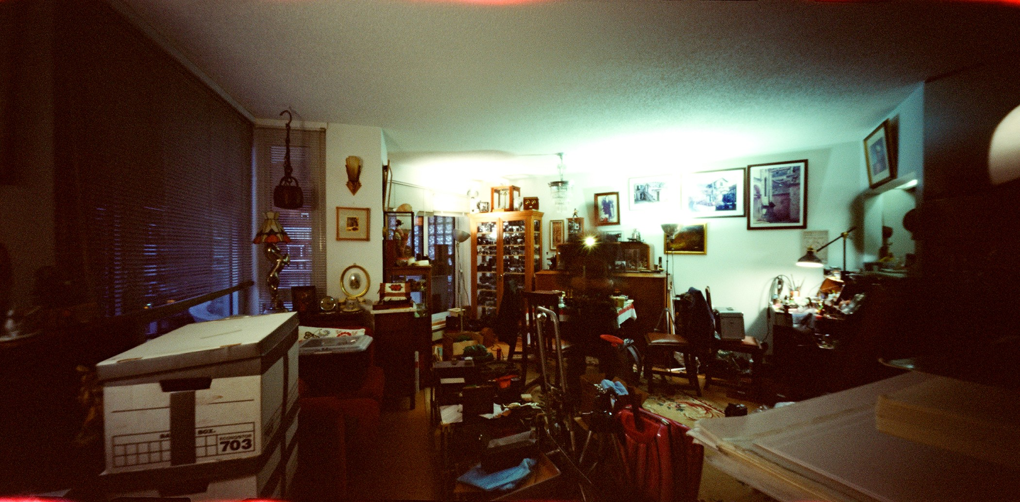 Tonchi's Apartment and trove of incoming-outgoing cameras, estate finds... shot with the ONDU Pinhole Rise (2020)