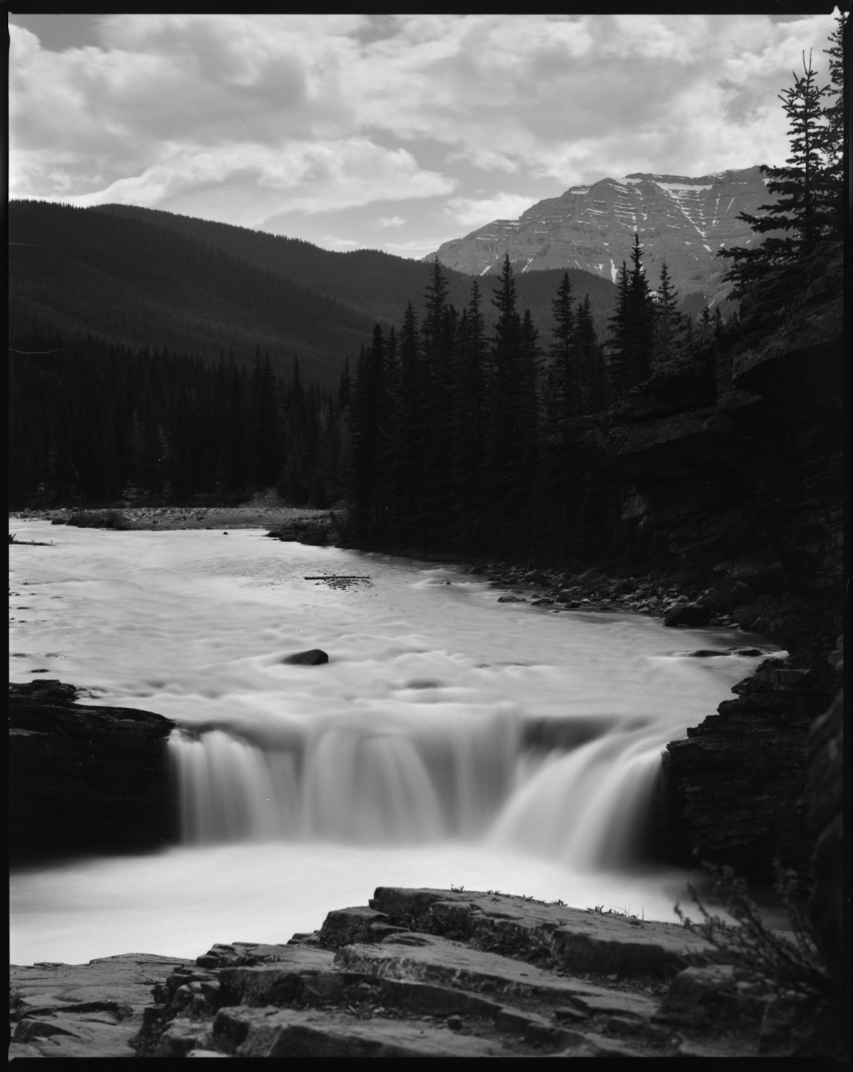 Sheep River Falls - Fujifilm NEOPAN 100 ACROS, Mamiya RZ67 w/110mm lens: The mighty power of Acros and its lack of reciprocity failure!