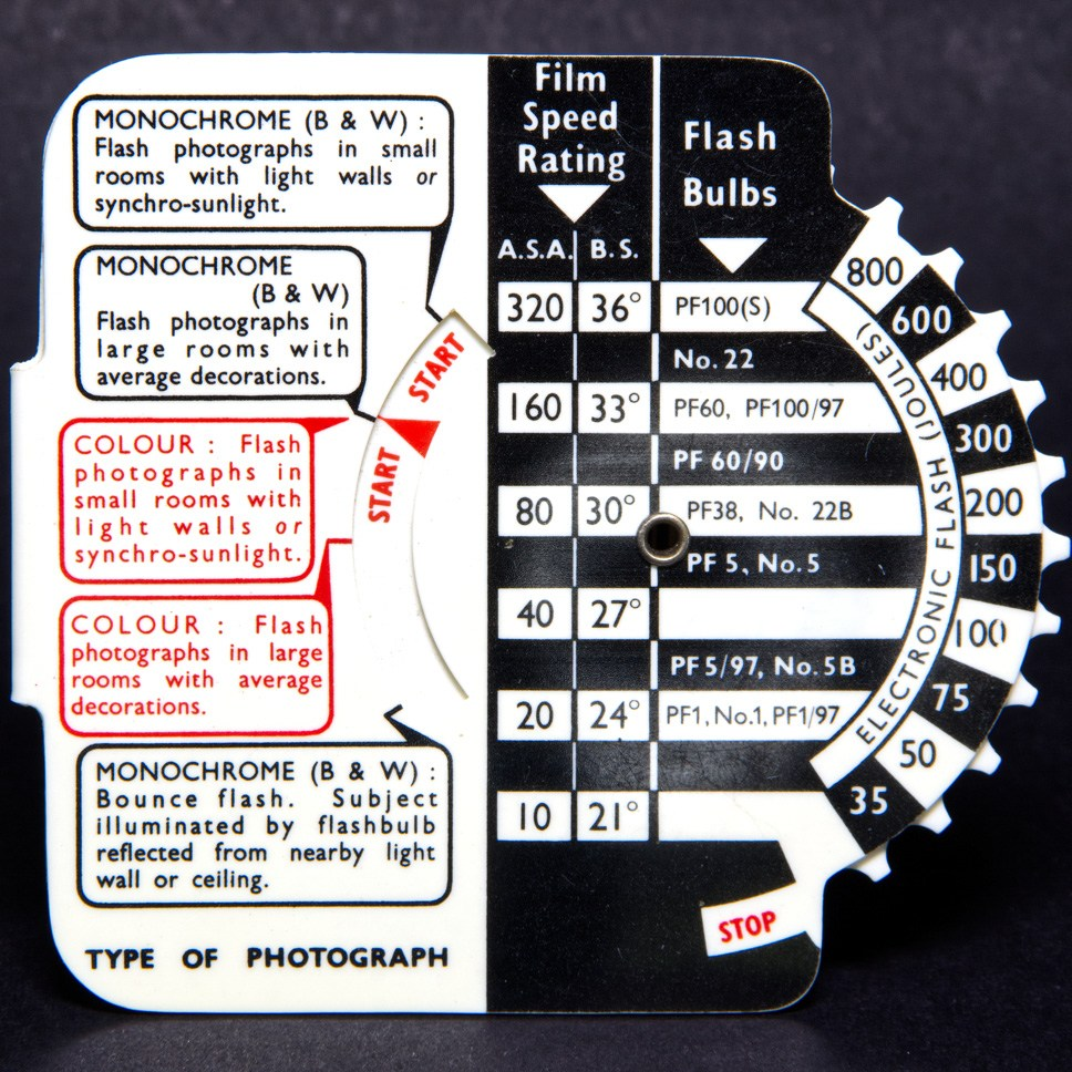 Johnson exposure calculator - flash (back)