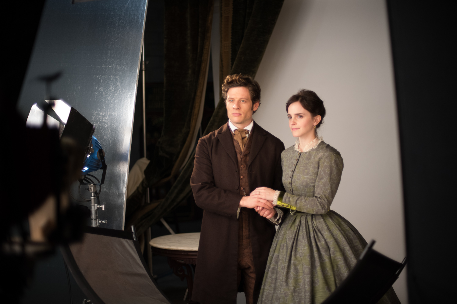 BTS on Emma Watson and James Norton's wet plate shoot #1 (Credit Kimberly Scarsella)