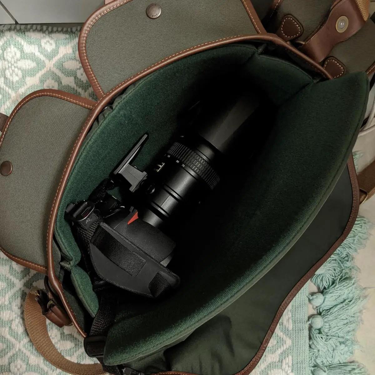 Billingham Hadley Pro 2020 - Nikon F6 and 70-200 loaded!