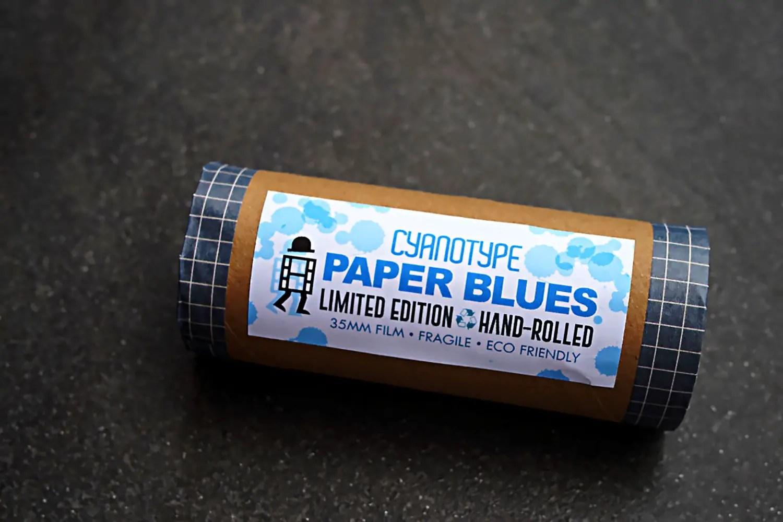 Cyanotype Paper Blues handmade film box