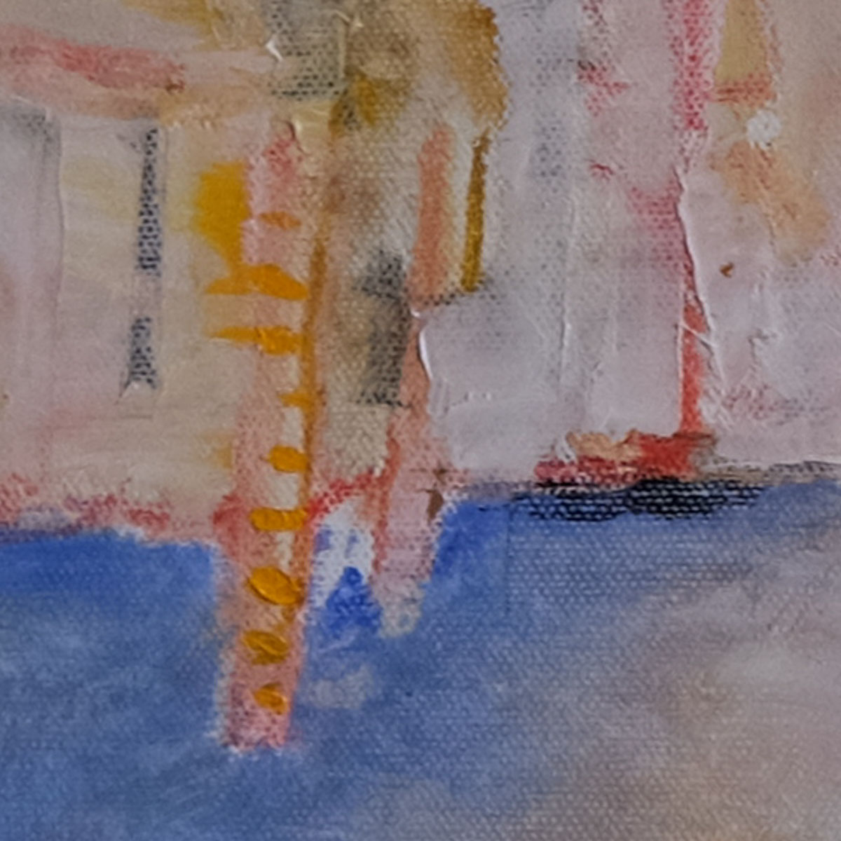 Detail from the same painting. View of the Grand Canal from Academia.