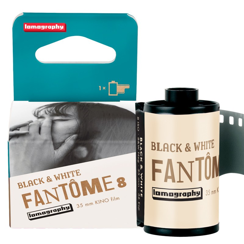 Lomography Fantôme Kino B&W ISO 8 Film - Box and film