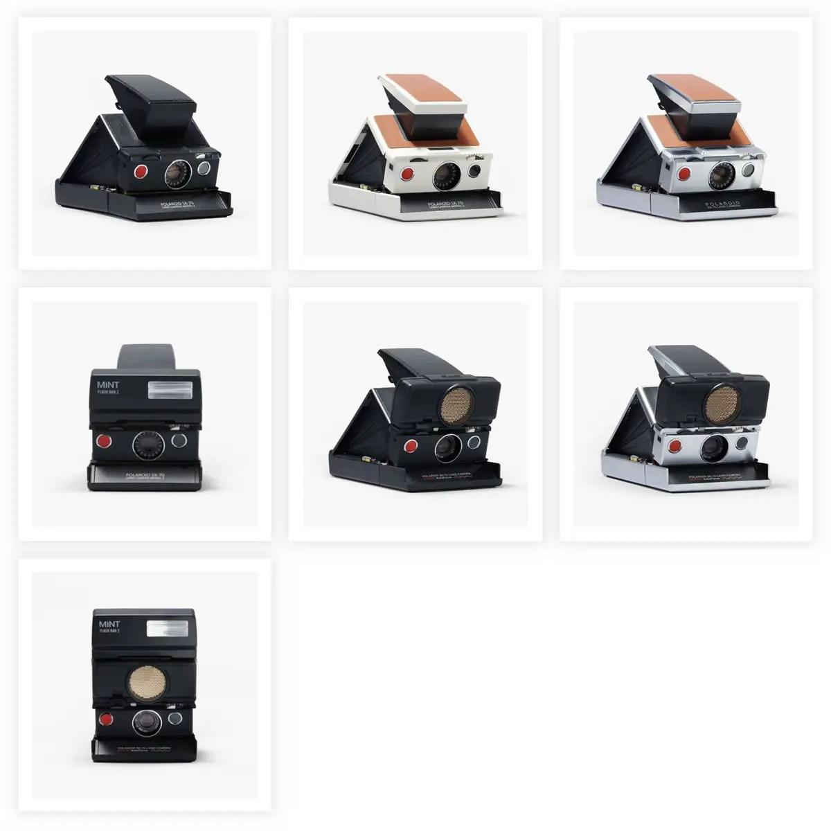 Polaroid SX-70 cameras. Credit: Polaroid.com