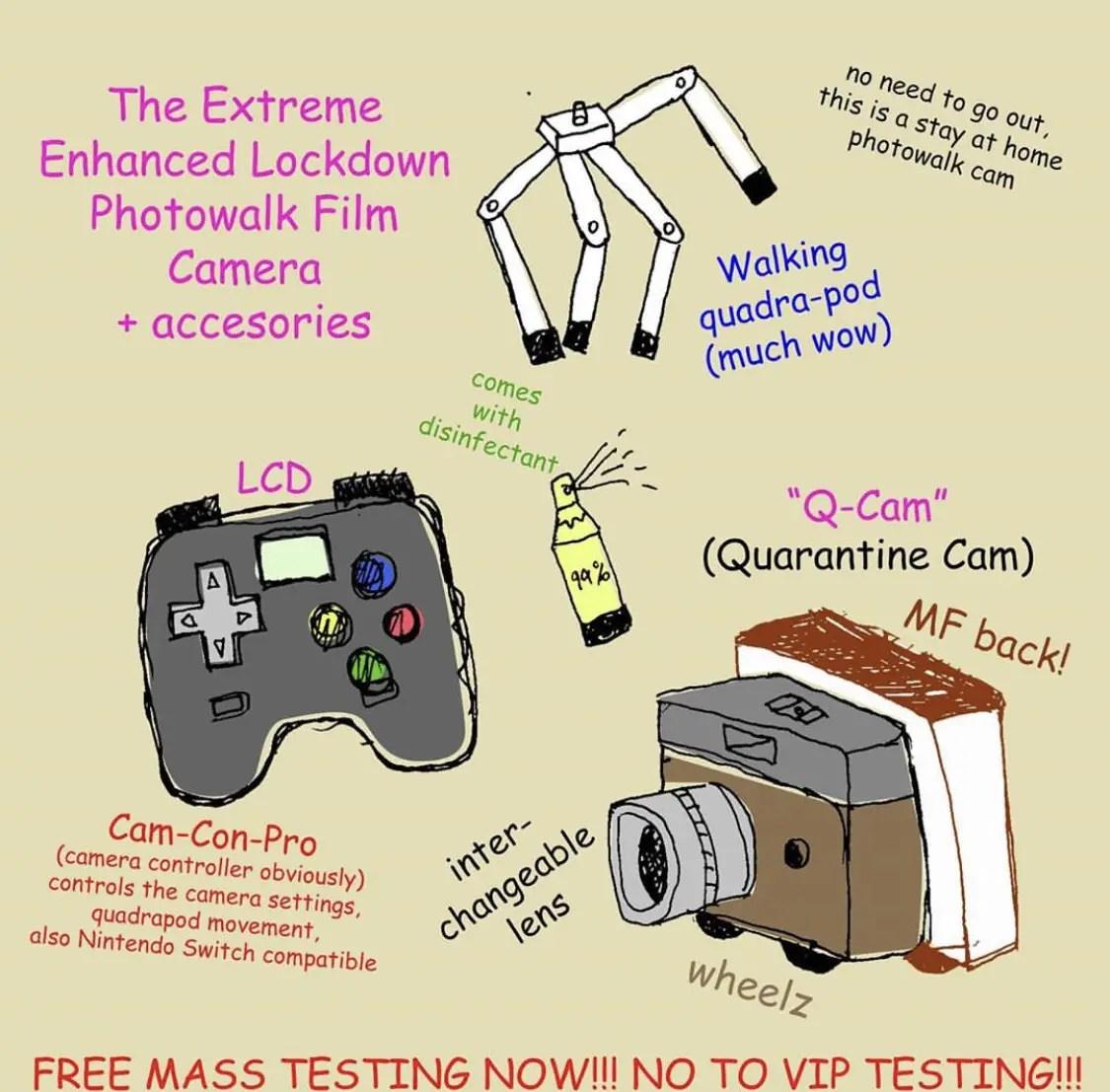 Extreme Enhanced Lockdown Photowalk Film Camera by Teo Esguerra