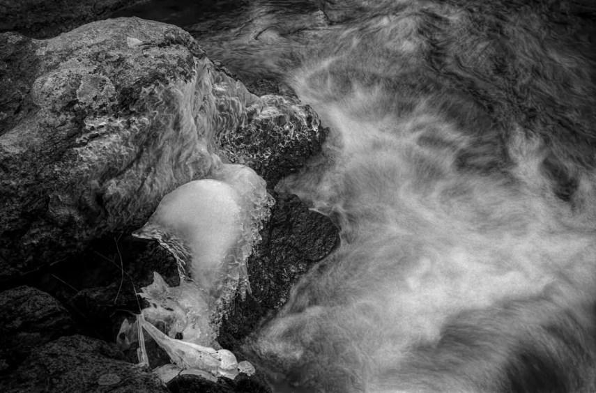 Ice/rocks/water - Kodak Medalist II Verchrome