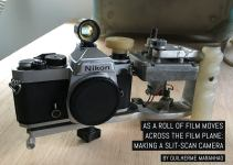 As a roll of film moves across the film plane: making a slit-scan camera