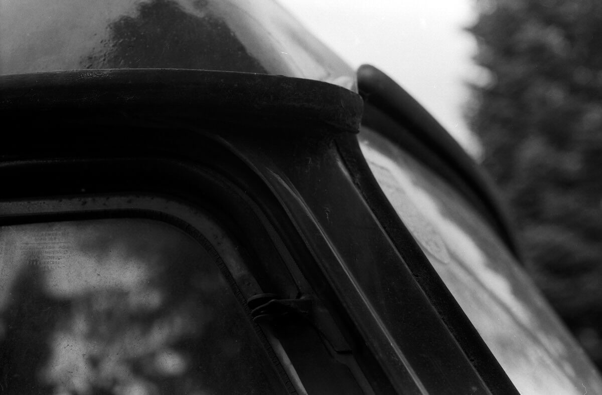 Mercedes Van Windows 1 - ILFORD PAN F, Olympus OM-1 and Zuiko Auto-Macro 50mm f/3.5 - Mercedes van study