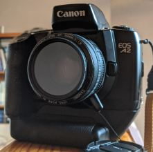My Canon EOS A2 and Canon 50mm f/1.8 Mk1 lens