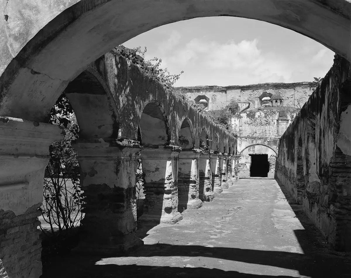 Peter Rockstroh - Convento de la Merced, Antigua Guatemala, Guatemala Kodak - Tri-X 320 in HC-110, Calumet 8x10, Contact Print