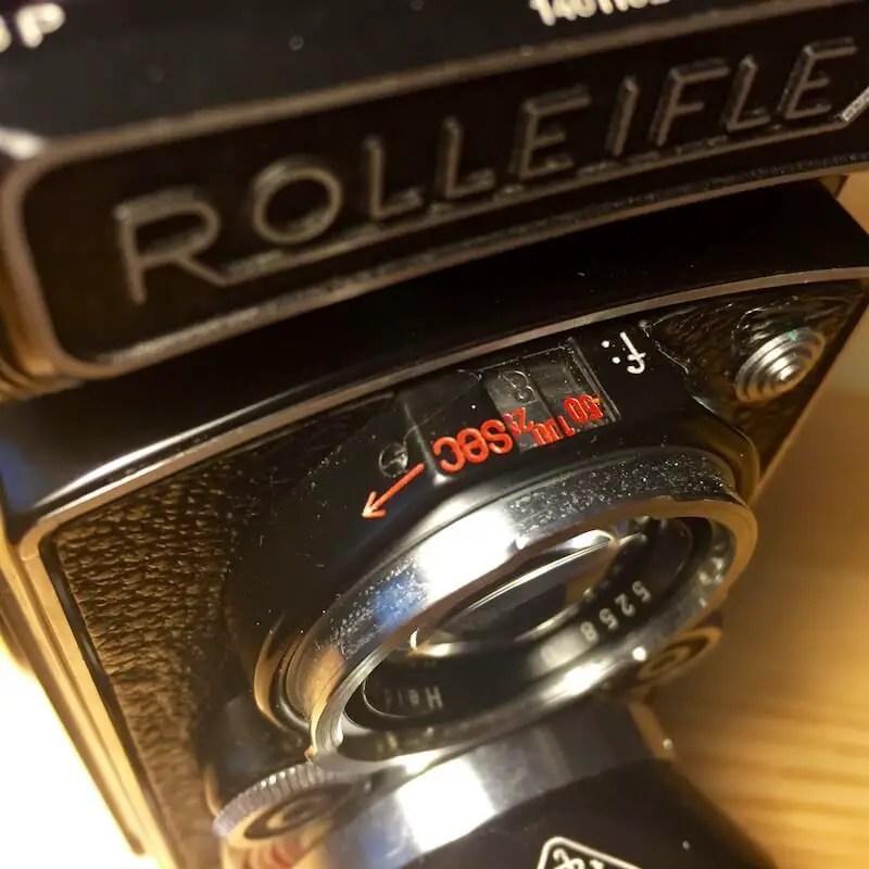 Rolleiflex MX - Exposure settings indicator