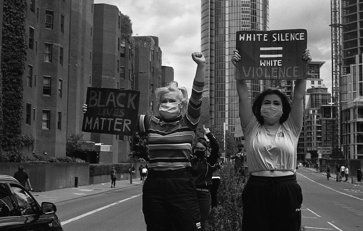 White silence is white violence - #BlackLivesMatter, London June 7th 2020