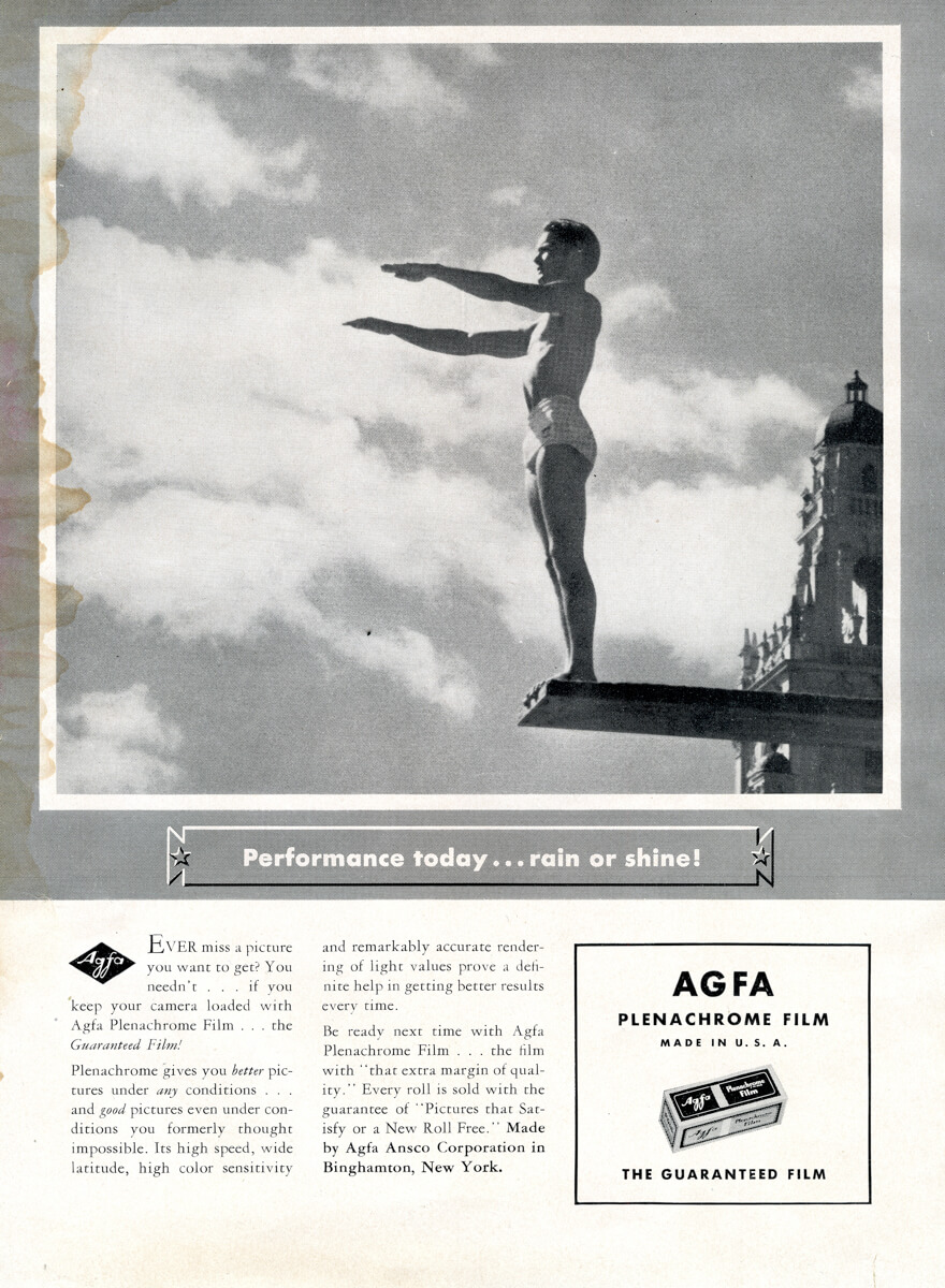 Popular Photo Issue 1, May 1937: Agfa Advert