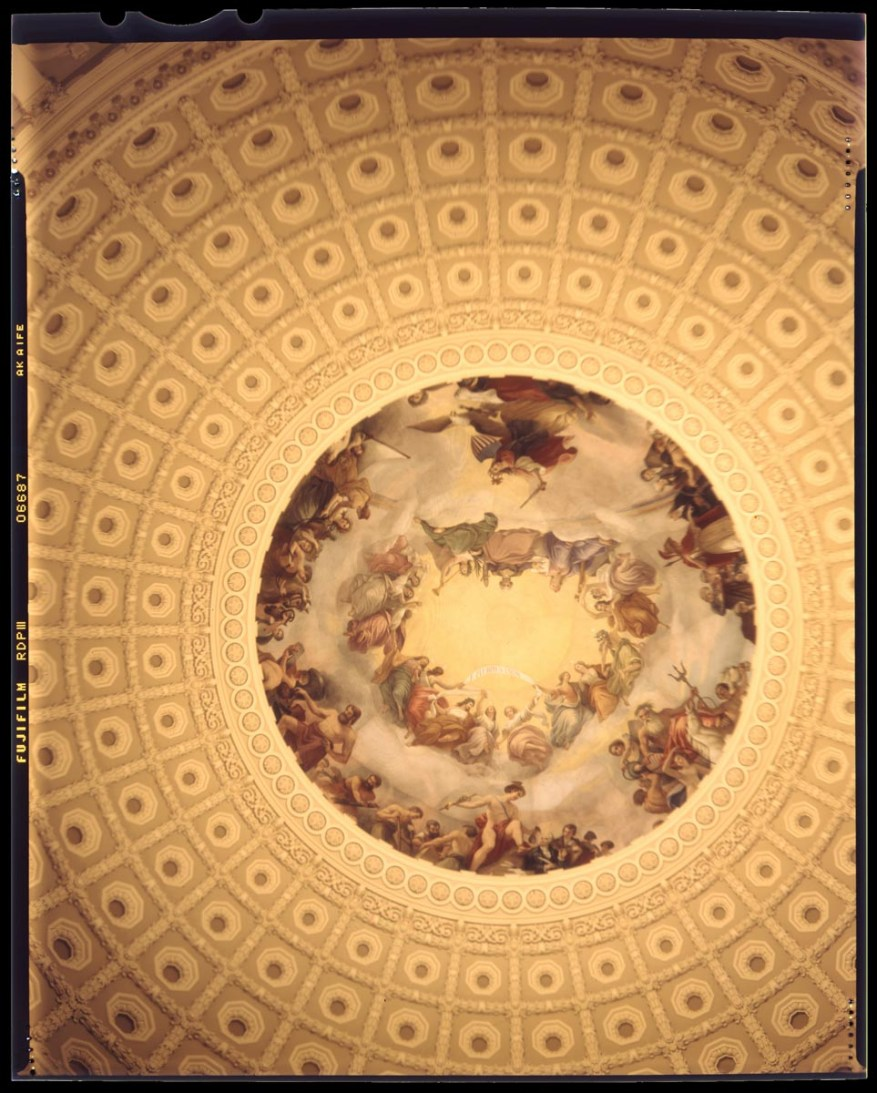 Capitol Rotunda (at night) - Graflex Speed Graphic, Fuji Provia 100F