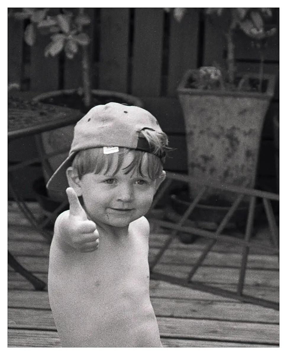 5 Frames... Of my grandsons on Rollei Retro 100 (EI 100 / 35mm format / Nikon FM2n) - by David Whenham