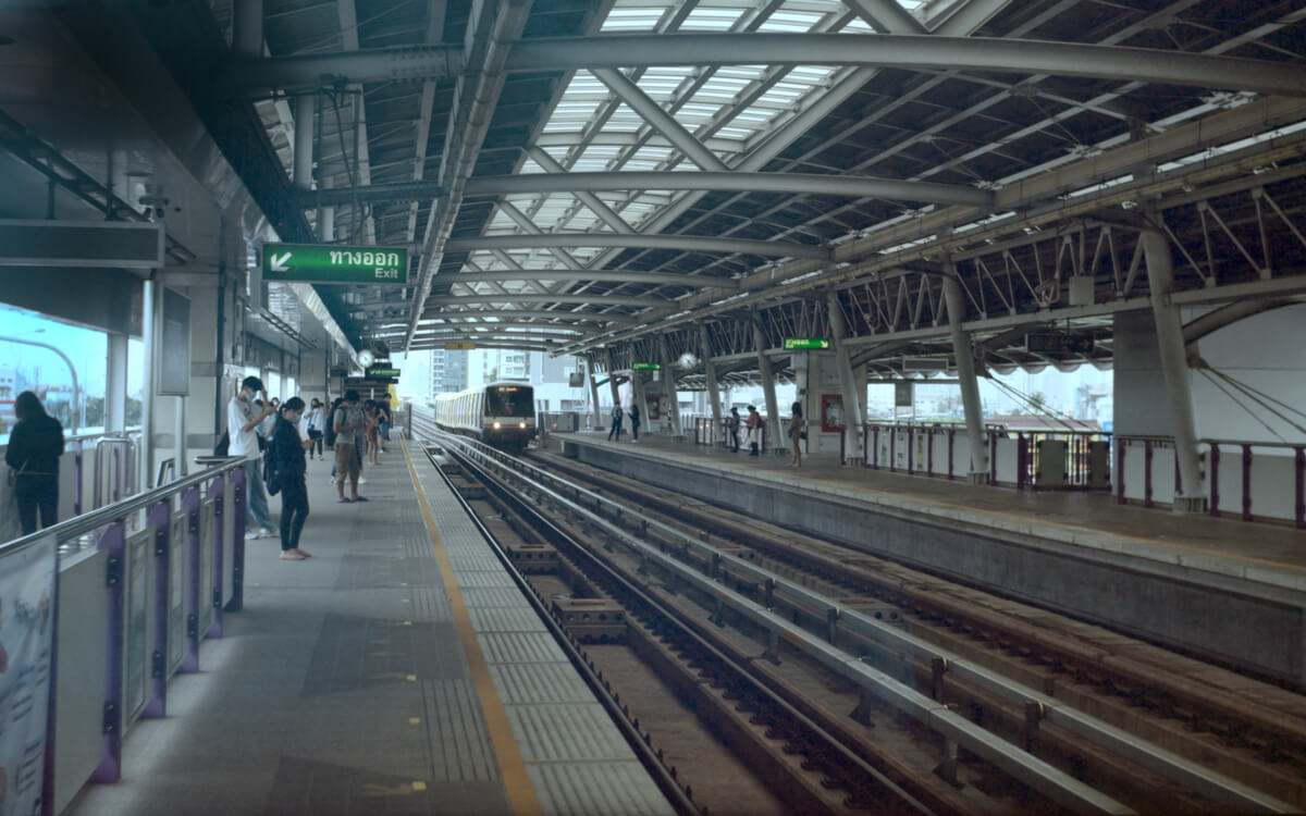 BTS Station - Taladphlu, Thonburi, Bangkok - 5 Frames… Of a gradually re-opened Bangkok on an Agfa Record III (120 Format / EI 160 / Kodak Portra 160) - by Graham Rogers