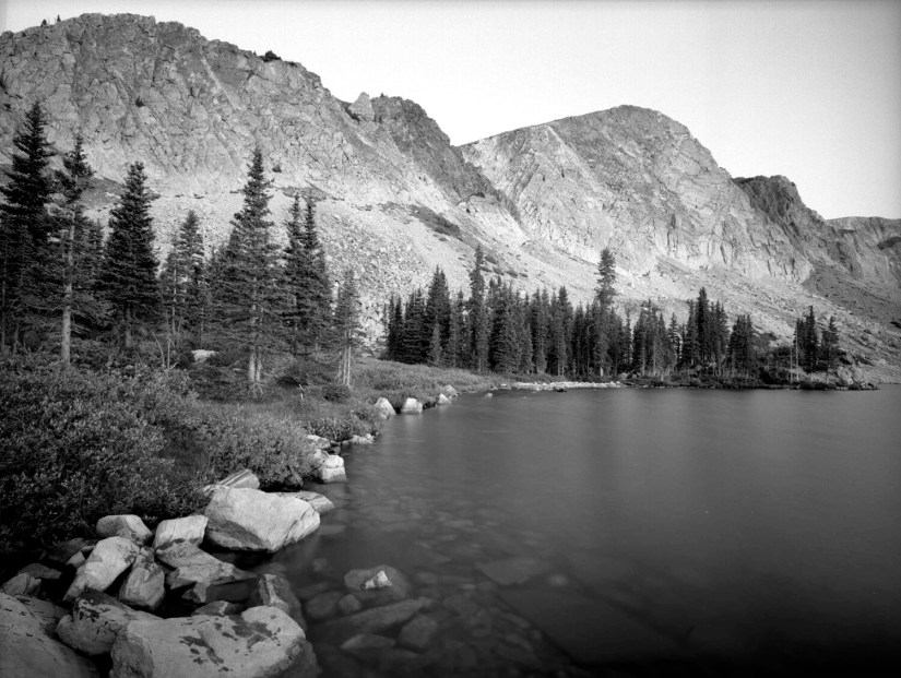 Thursday, September 11, 2008  6:46 AM Mountain Time, Lake Marie, Snowy Range, Wyoming  4x5 Kodak T-MAX 100, Linhof Tech V Camera, 65 mm lens - 30 Second Exposure at f/22, Craig Pindell
