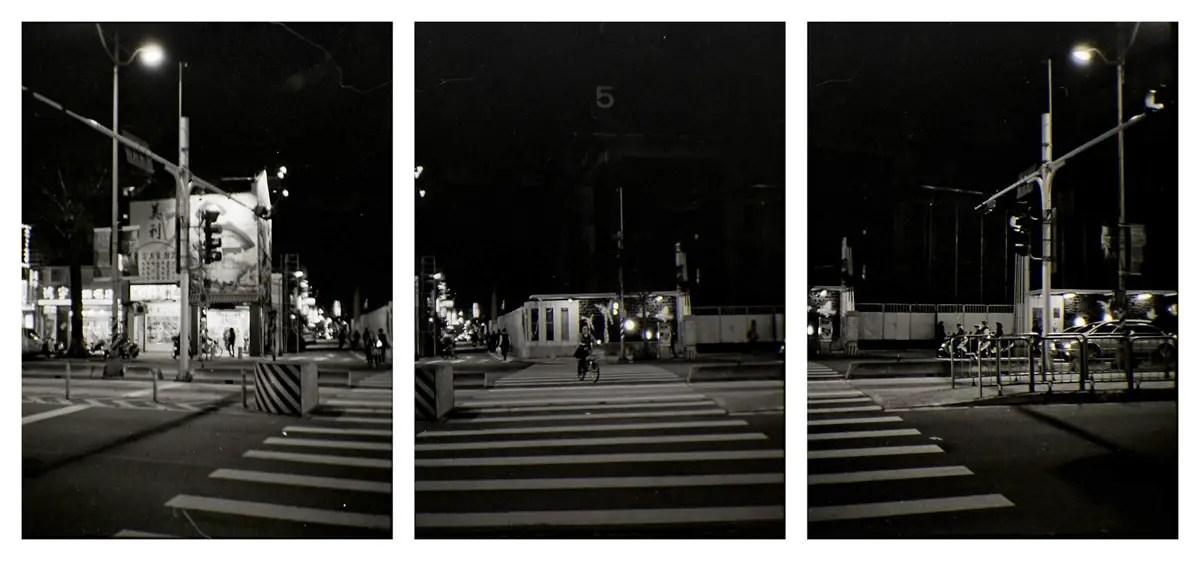 Kodak Tri-X 400 half-frame tryptych