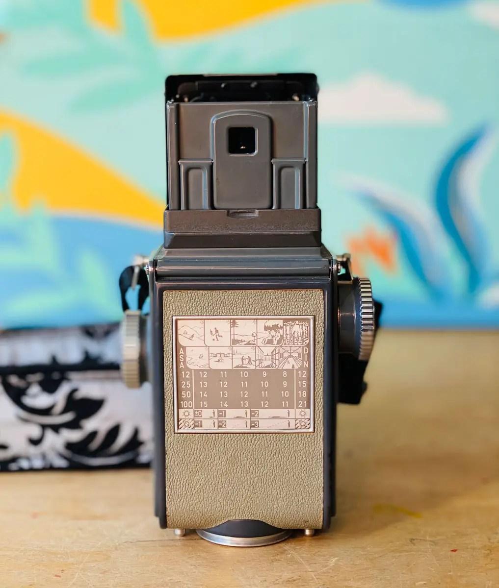 Automatic Rolleiflex 4x4 - Rear