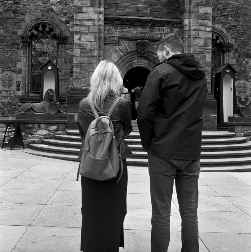 5 Frames... Of Edinburgh Castle on ILFORD XP2 Super (120 Format / EI 400 / Rolleicord) - by Jake Williams