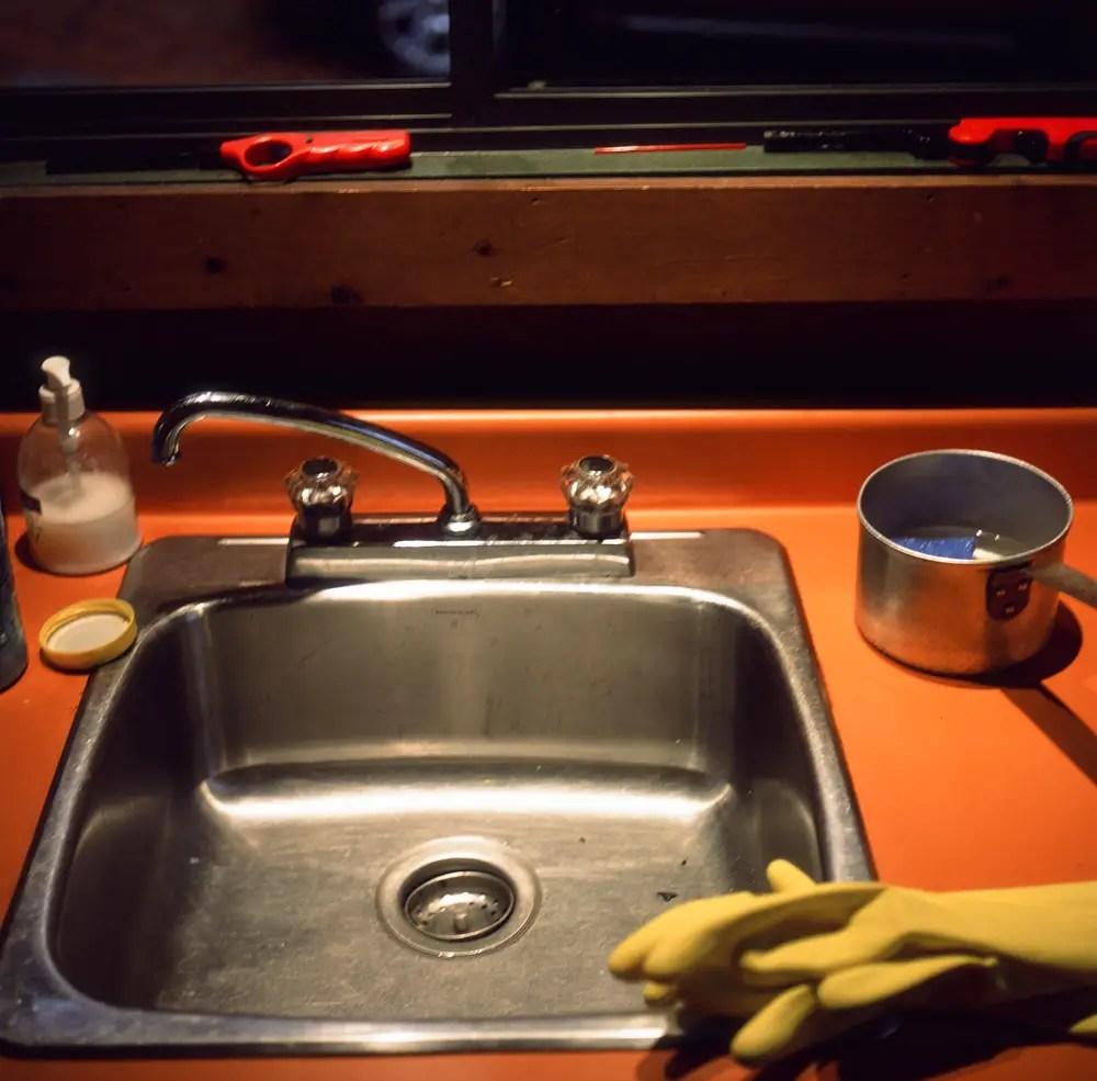 Kitchen Sink - Fujifilm Provia 100F + Rolleicord III, f/3.5 1/15