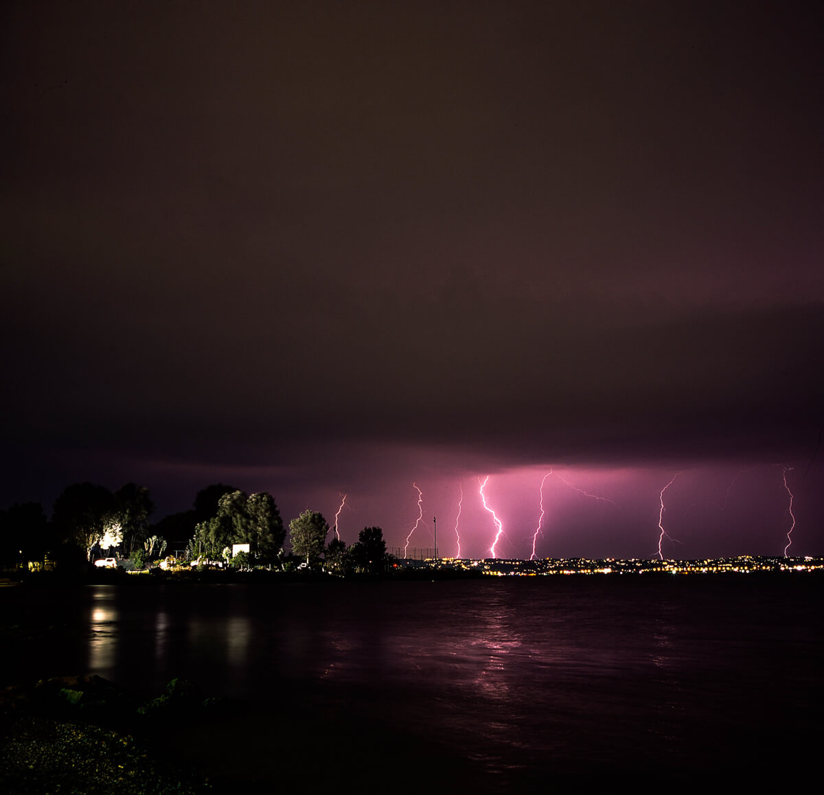 5 Frames... Of lightning on Fuji Provia 100F (120 Format / EI 100 / Hasselblad 500CM + Carl Zeiss Distagon CF 50mm f/4 - by Dimitris Chatzis