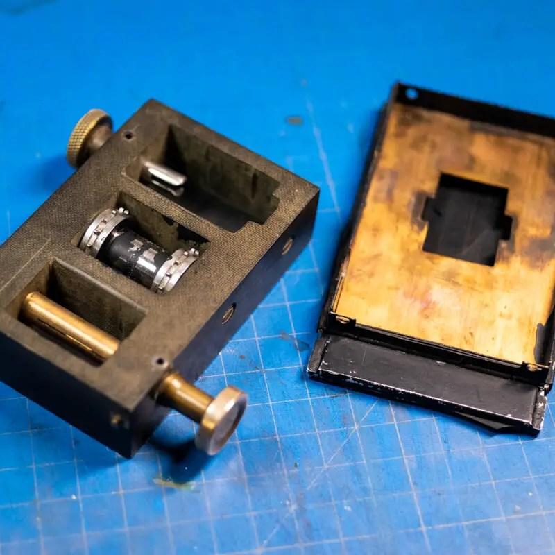 Custom 35mm back for Graflex Medium Format Cameras
