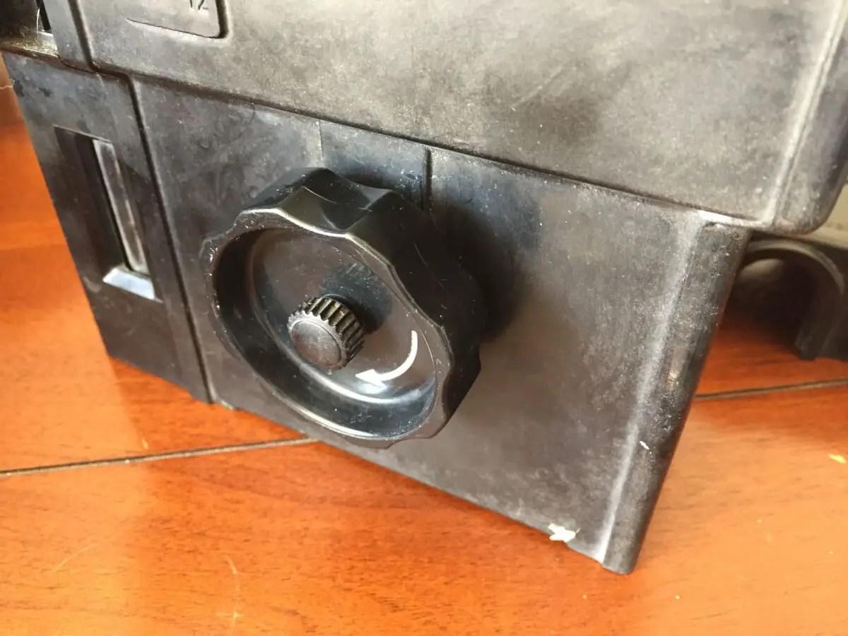 Agfa Rondinax 35U review - Agitation : winding knob