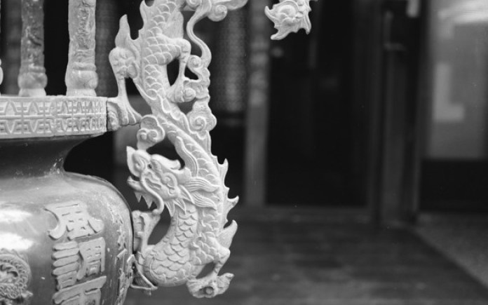 Follow the dragon - Shot on Shanghai GP3 100 at EI 100. Black and white negative film in 120 format shot as 6x6.