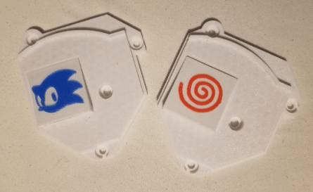 Dreamcast 3D Printed Insert for GDEMU - Blue Sonic