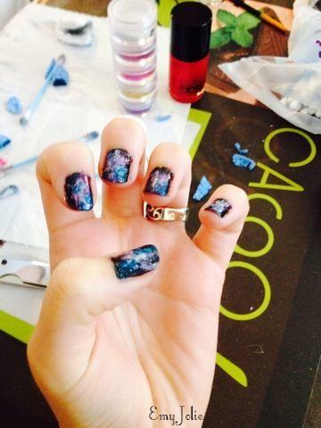 Manucure Galaxie - Que la force soit avec vous