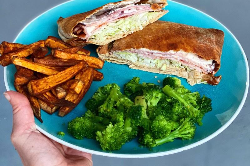 BBQ Ham & Swiss Crunch Wrap